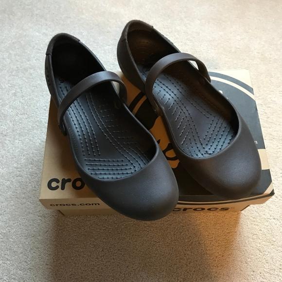 47c6f89f63e0d6 crocs Shoes - Crocs Espresso Alice Work Flat